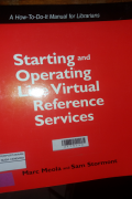 STARTING AND OPERATING LIVE VIRTUAL REFERENCE SERVICES